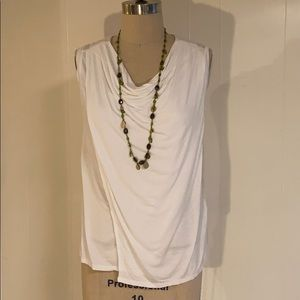 Banana Republic white cowl neck knit top